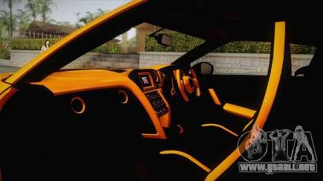 Nissan GT-R R35 2015 para visión interna GTA San Andreas