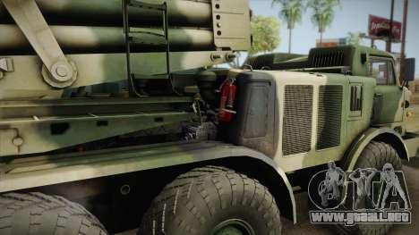 BM-27 Uragan (9P140) para la visión correcta GTA San Andreas