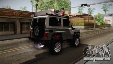 Toyota Land Cruiser Machito 2013 Sound Y para GTA San Andreas vista posterior izquierda