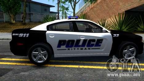 Dodge Charger Rittman Ohio Police 2013 para GTA San Andreas left