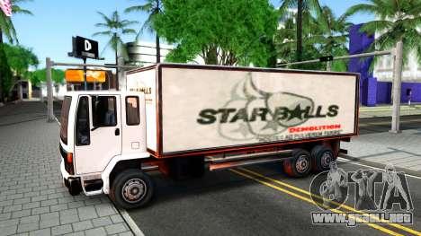 DFT-30 Box Truck para visión interna GTA San Andreas