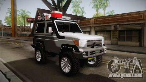 Toyota Land Cruiser Machito 2013 Sound Y para la visión correcta GTA San Andreas