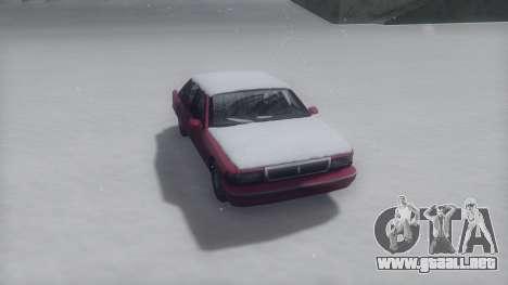Premier Winter IVF para GTA San Andreas vista posterior izquierda
