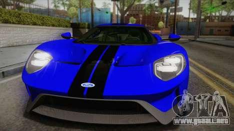 Ford GT 2017 para la visión correcta GTA San Andreas