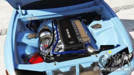 GTA 5 Toyota Chaser (JZX100) v1.1 [add-on] vista lateral derecha