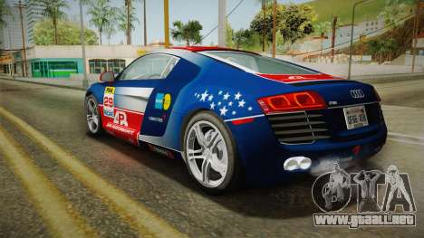 Audi R8 Coupe 4.2 FSI quattro US-Spec v1.0.0 v4 para GTA San Andreas
