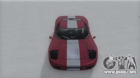 Bullet Winter IVF para GTA San Andreas vista posterior izquierda