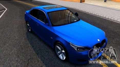 BMW E60 520D M Technique para GTA San Andreas left