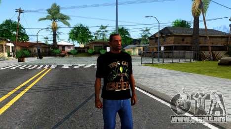 Black Beer T-Shirt para GTA San Andreas segunda pantalla