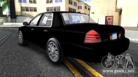 Ford Crown Victoria OHSP Unmarked 2010 para GTA San Andreas vista hacia atrás
