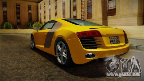 Audi R8 Coupe 4.2 FSI quattro EU-Spec 2008 Dirt para la visión correcta GTA San Andreas