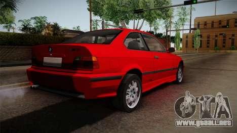 BMW 328i E36 Coupe para GTA San Andreas left
