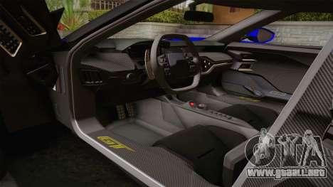 Ford GT 2017 para visión interna GTA San Andreas