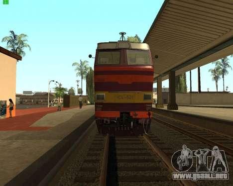 Locomotora de pasajeros CHS4t-521 para la visión correcta GTA San Andreas