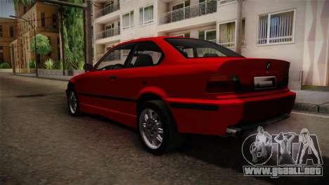 BMW 328i E36 Coupe para GTA San Andreas vista posterior izquierda