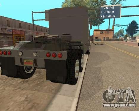 Dude Road Train para GTA San Andreas vista posterior izquierda