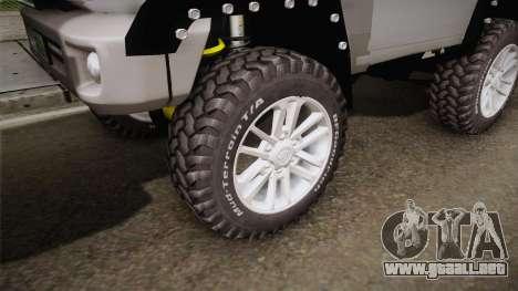 Toyota Land Cruiser Machito 2013 Sound Y para GTA San Andreas vista hacia atrás