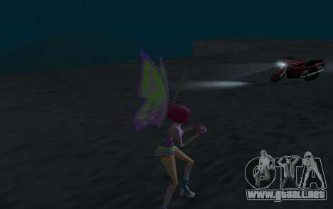 Tecna Believix from Winx Club Rockstars para GTA San Andreas sucesivamente de pantalla