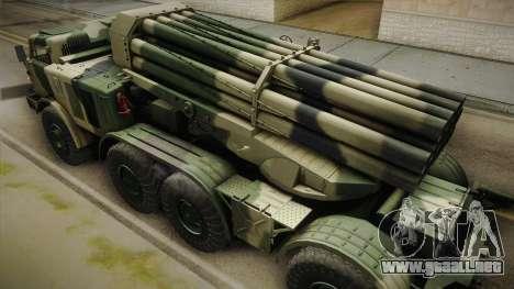 BM-27 Uragan (9P140) para visión interna GTA San Andreas