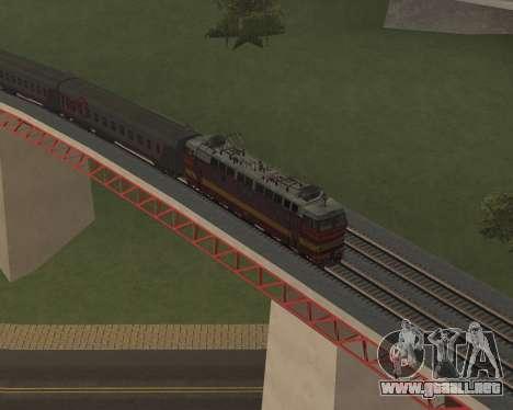 Locomotora de pasajeros CHS4t-521 para las ruedas de GTA San Andreas