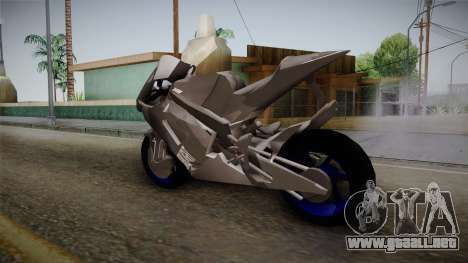 Dark Light Motorcycle para GTA San Andreas vista posterior izquierda