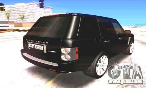 Land Rover 2010 para la visión correcta GTA San Andreas