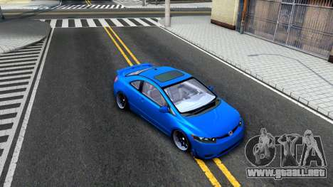 Honda Civic Si para visión interna GTA San Andreas
