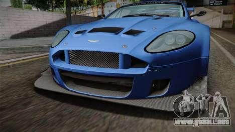 Aston Martin Racing DBRS9 GT3 2006 v1.0.6 para visión interna GTA San Andreas