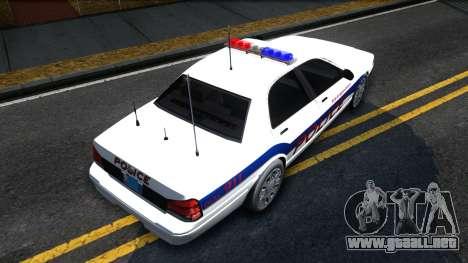 Vapid Stanier Metropolitan Police 2009 para la visión correcta GTA San Andreas