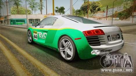 Audi R8 Coupe 4.2 FSI quattro US-Spec v1.0.0 v4 para la vista superior GTA San Andreas