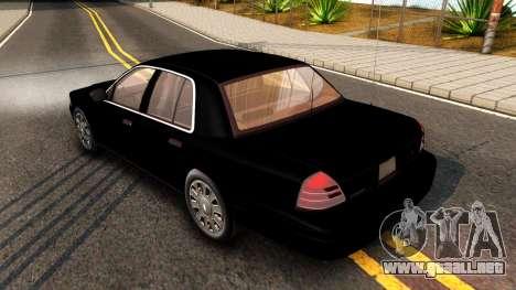 Ford Crown Victoria Detective 2008 para la visión correcta GTA San Andreas