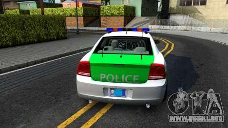 Dodge Charger German Police 2008 para GTA San Andreas vista posterior izquierda