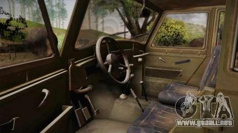 УАЗ-3151 CoD4 MW Remasterizado para visión interna GTA San Andreas