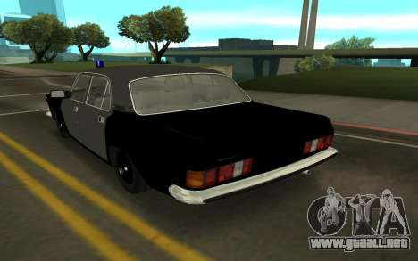 GAZ 24-10 Sheriff para GTA San Andreas vista posterior izquierda