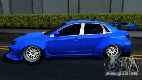 Subaru WRX STi Widebody para GTA San Andreas left