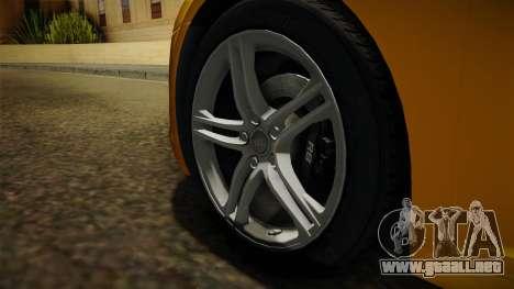 Audi R8 Coupe 4.2 FSI quattro EU-Spec 2008 Dirt para GTA San Andreas vista hacia atrás