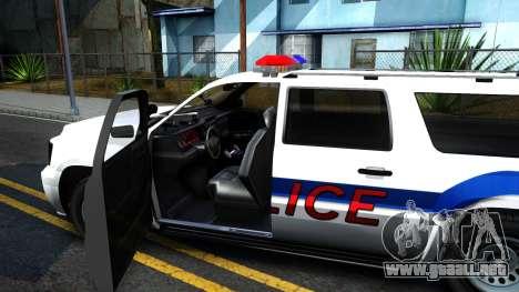 Declasse Granger Metropolitan Police 2012 para visión interna GTA San Andreas