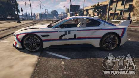 GTA 5 BMW 3.0 CSL Hommage R Concept vista trasera