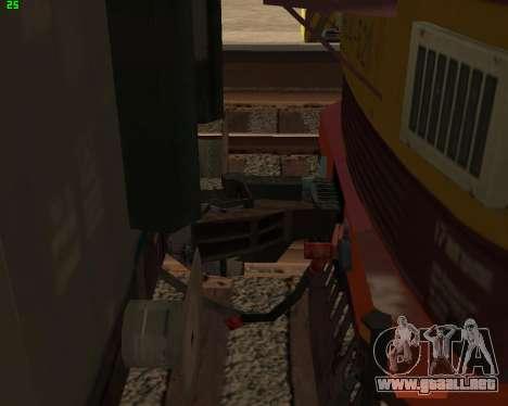 Locomotora de pasajeros CHS4t-521 para vista inferior GTA San Andreas