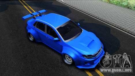 Subaru WRX STi Widebody para la visión correcta GTA San Andreas
