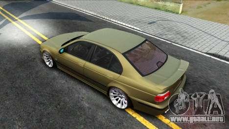 BMW 530D E39 para GTA San Andreas vista hacia atrás