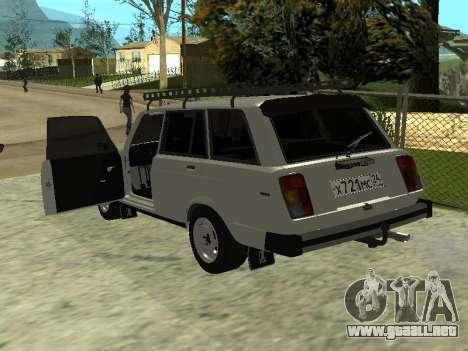 Vaz 2104 krasnoyarsk para GTA San Andreas vista posterior izquierda