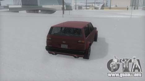 Club Winter IVF para GTA San Andreas left
