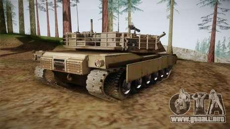 Abrams Tank para GTA San Andreas vista posterior izquierda
