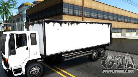 DFT-30 Box Truck para GTA San Andreas vista hacia atrás
