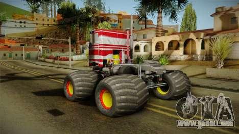 Peterbilt Monster Truck para la visión correcta GTA San Andreas