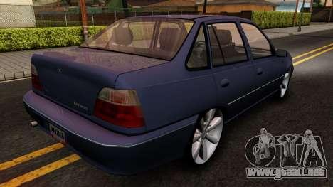 Daewoo Cielo 2001 para la visión correcta GTA San Andreas