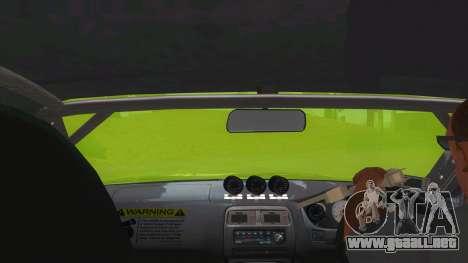 Azuki Azusa Itasha Nissan Silvia Vinyl para visión interna GTA San Andreas