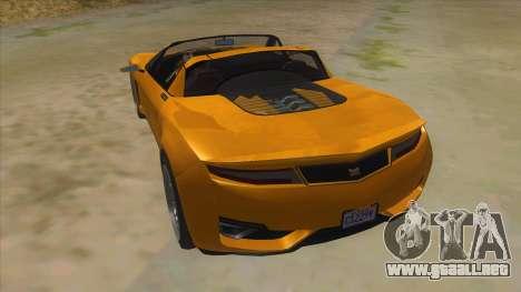 GTA V Dynka Jester Spider para GTA San Andreas vista posterior izquierda