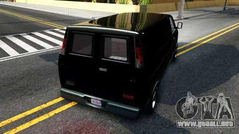 GTA V Declasse Burrito para GTA San Andreas vista posterior izquierda